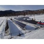 Работа солнечных станций в зимнее время