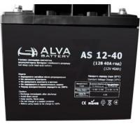 Гелевый аккумулятор Alva AS12-40 (12В 40Ач)