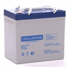 Гелевый аккумулятор 55 Ач Challenger G12-55T