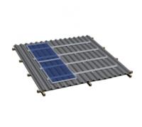 Комплект на металлочерепичную скатную крышу (4-40 модулей)