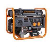 Генератор бензиновый 5,5 кВт UNITED POWER GG6300E, однофазный