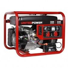 Генератор бензиновый 6 кВт UNITED POWER GG7200E, 1 фаза