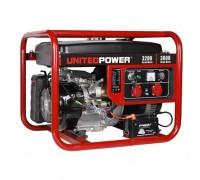 Генератор бензиновый 3,8 кВт UNITED POWER GG4500E, однофазный