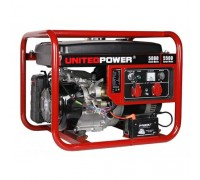 Генератор бензиновый 5,5 кВт UNITED POWER GG6200E, однофазный