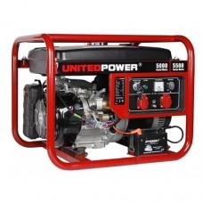 Генератор бензиновый 5,5 кВт UNITED POWER GG6200E, однофазный портативный