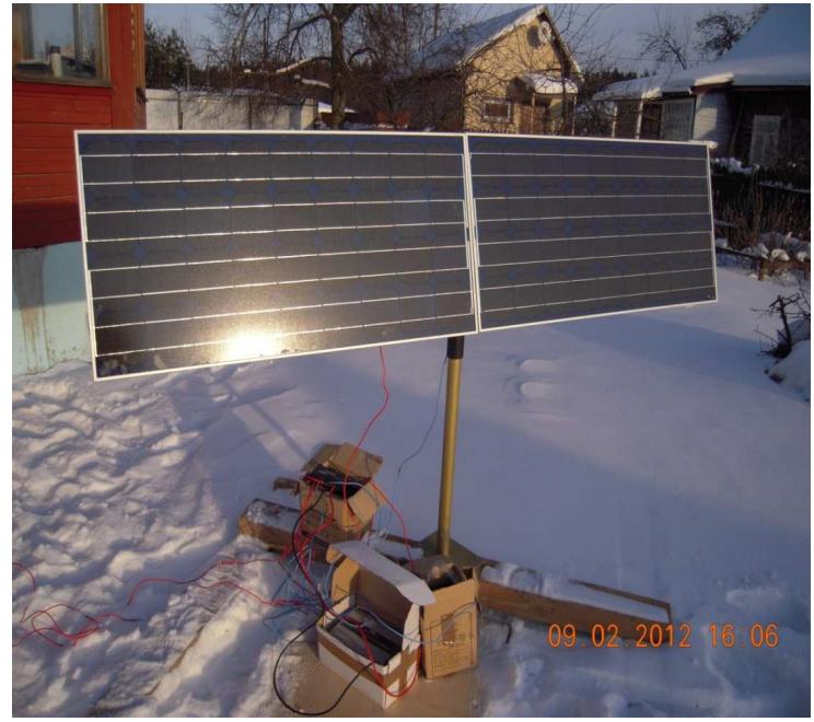 Солнечные панели Зимой