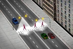 Освещение пешеходных переходов на солнечных панелях