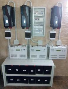 Invertors-3x3kVt+AKB-48V-300Ah+stabilizators