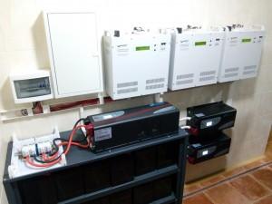 Invertors-6kVt+2x3kVt+AKB-48V-400Ah+stabilizators